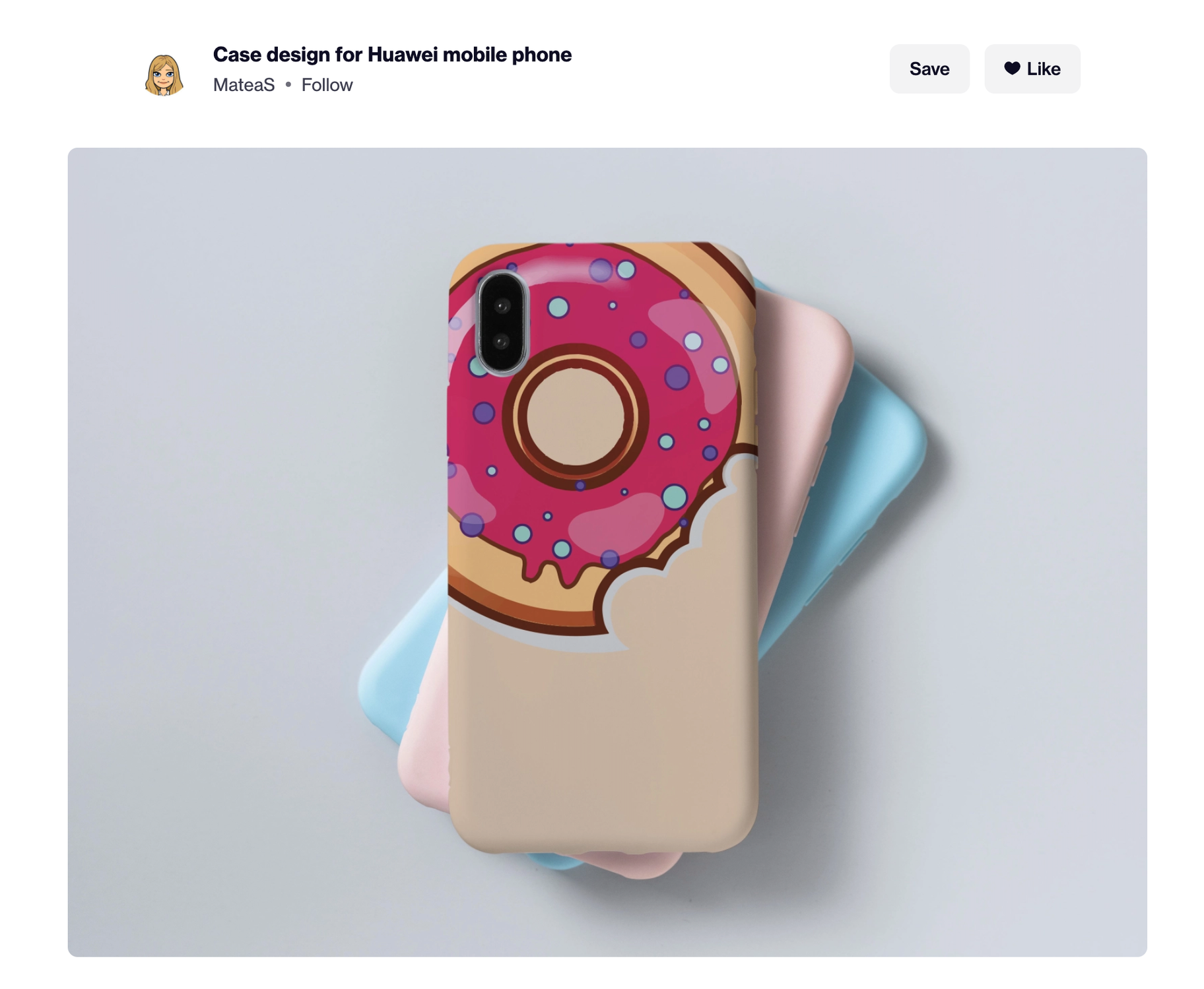 dribbble phone case designer