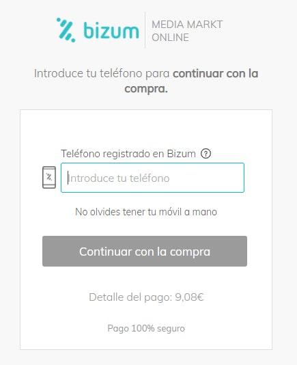 Pagar con Bizum en comercio electrónico