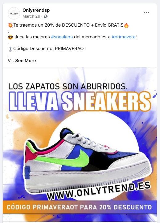 anuncios publicitarios ejemplos sneakers