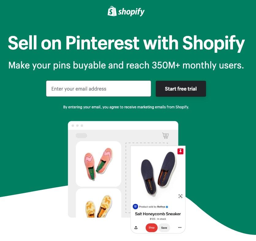 Shopify et Pinterest