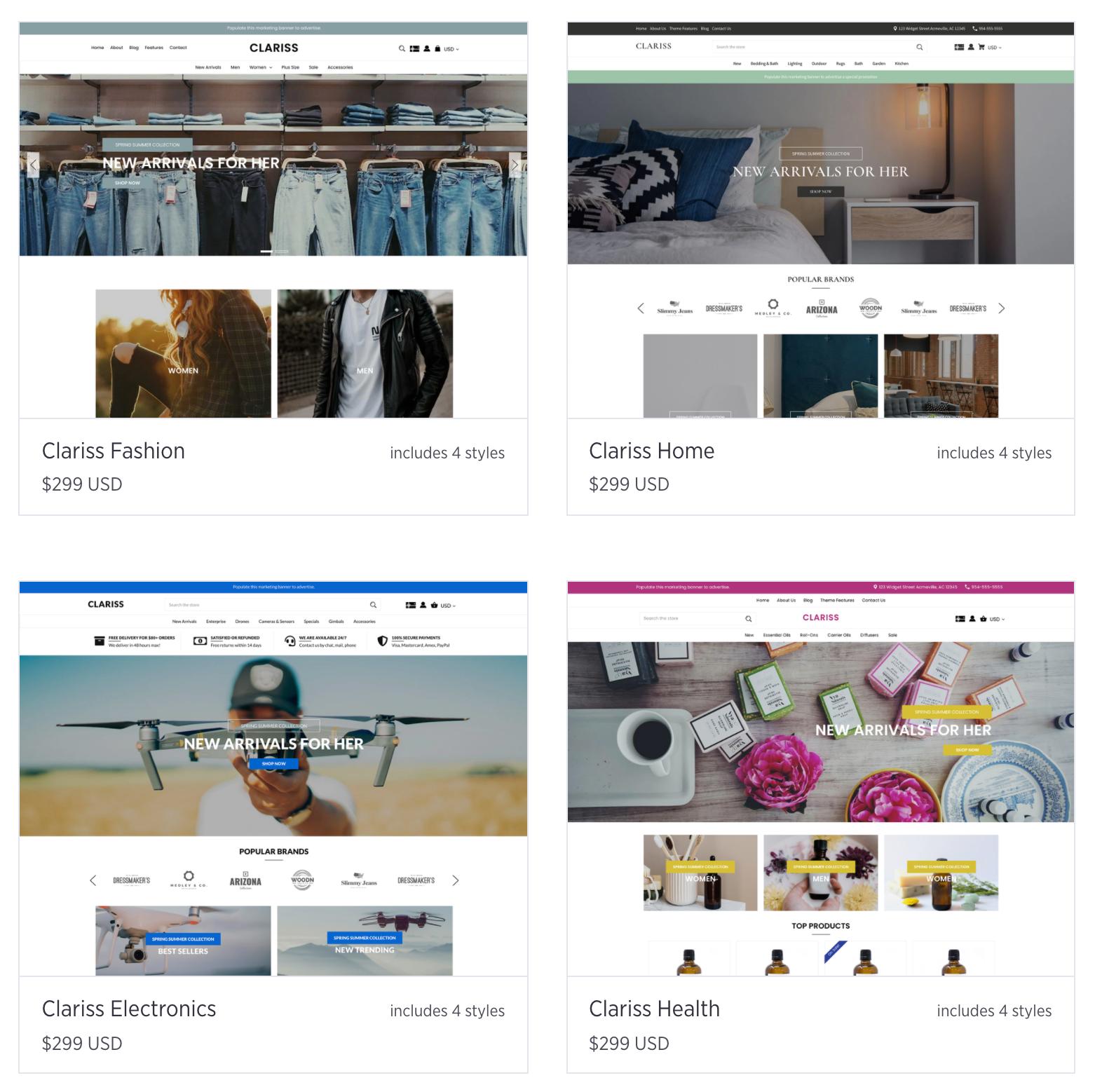 BigCommerce vs. Shopify Themes