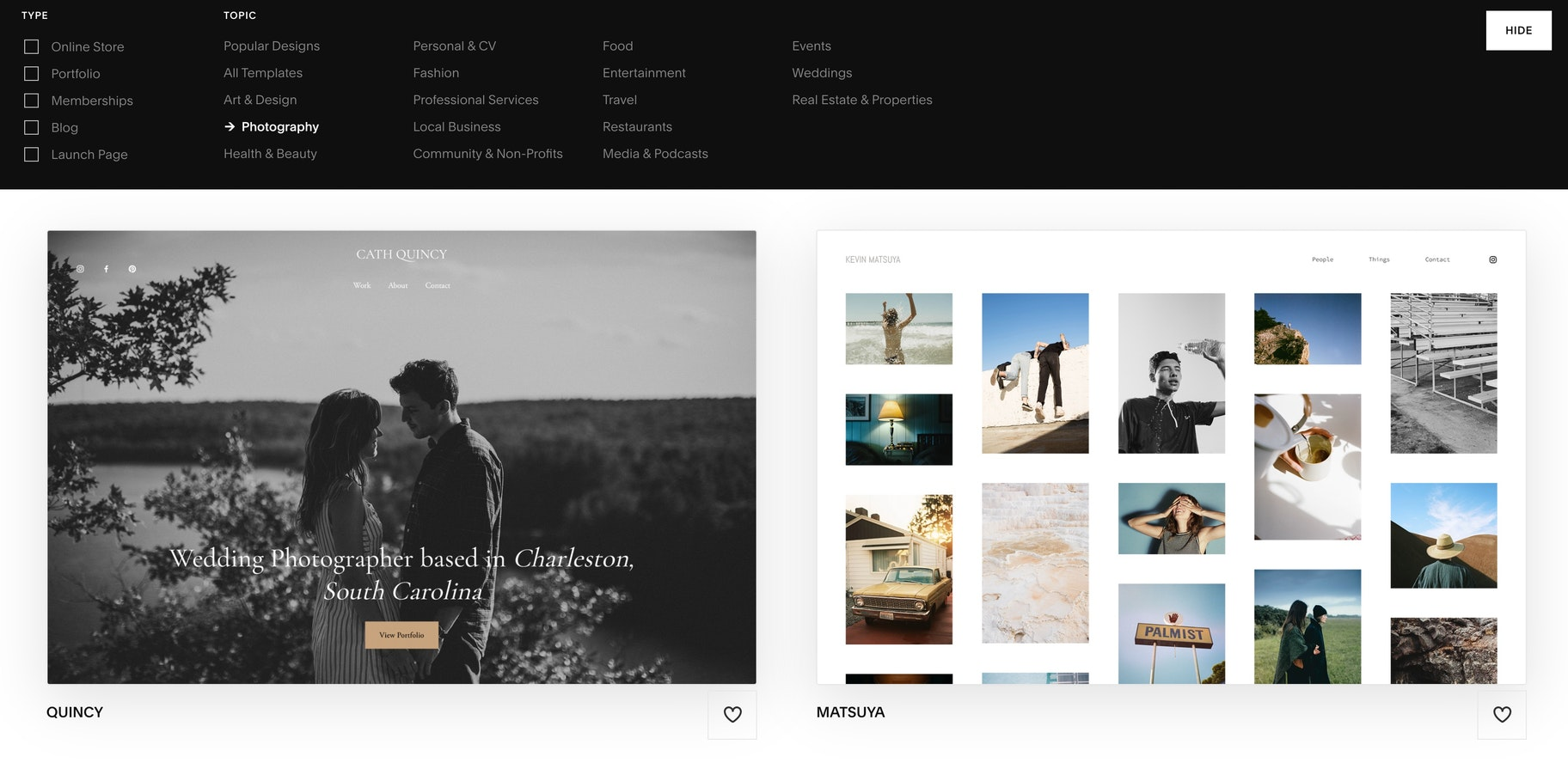how to create a website for creative work