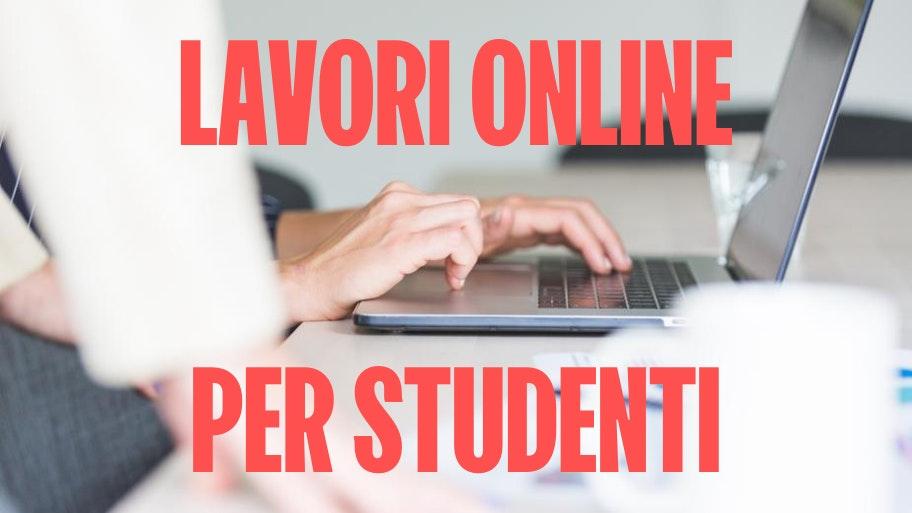 lavori online per studenti