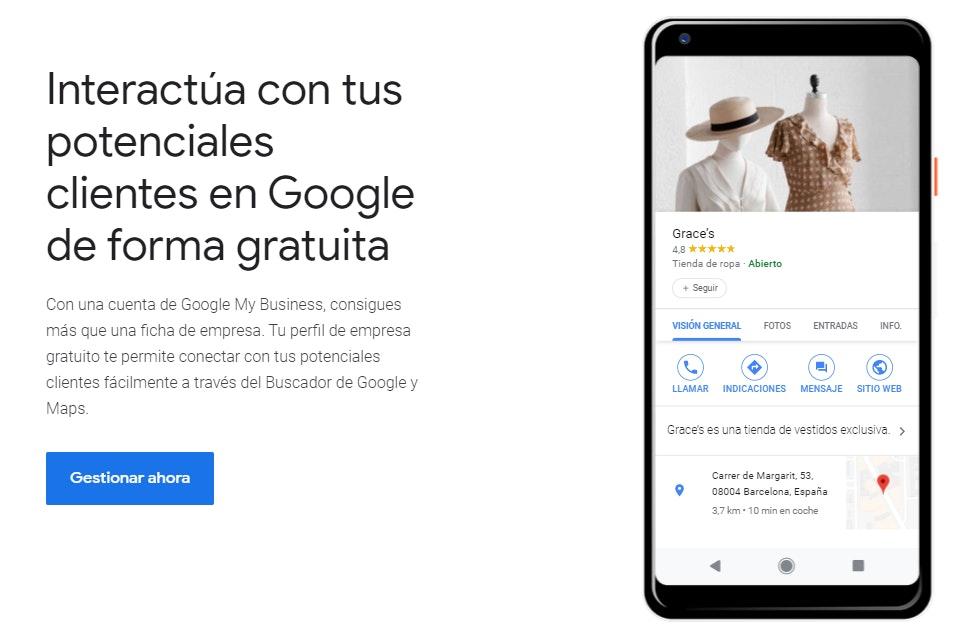 Google My Business para promocionar negocio online