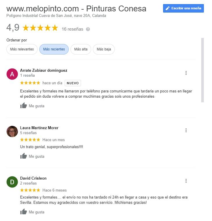 Las reseñas mejoran visibilidad de negocios locales en buscadores