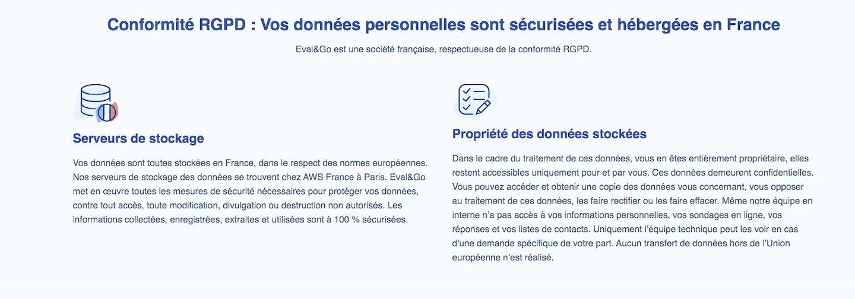 Outil sondage en ligne français RGPD
