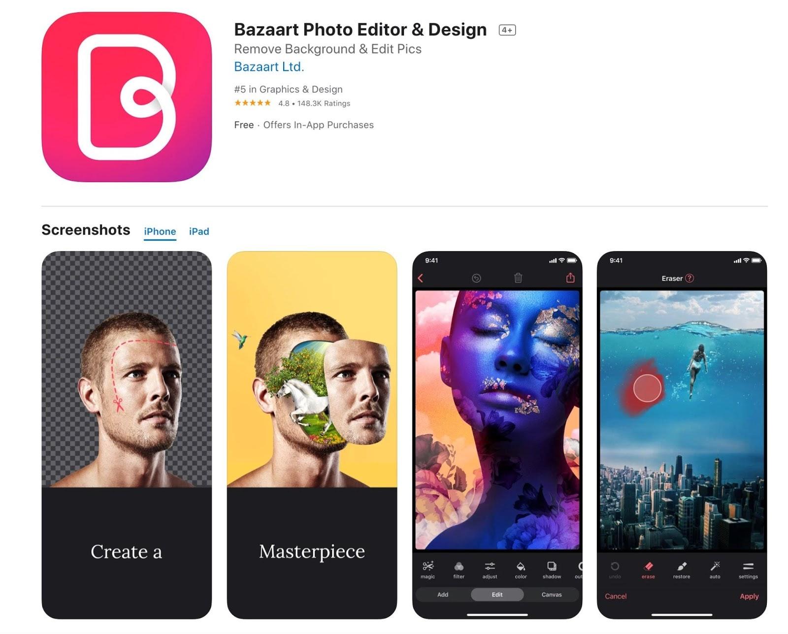 bazaart iOS review