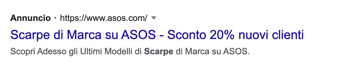 annunci google ads search