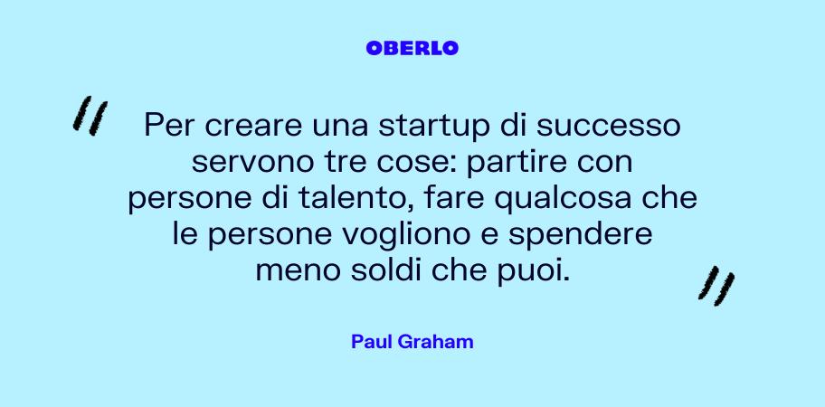 citazione sui finanziamenti startup