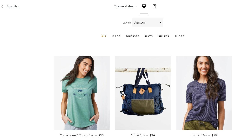 Exemple boutique Shopify