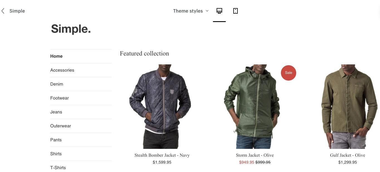 Thème Shopify Simple