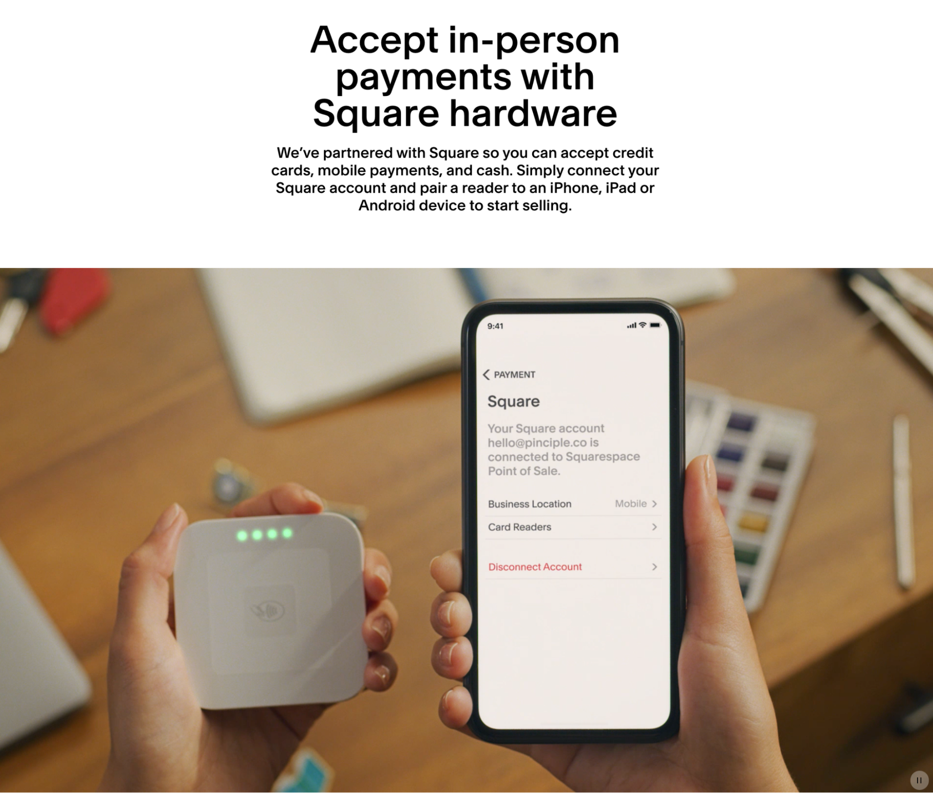 Squarespace and Square Integration