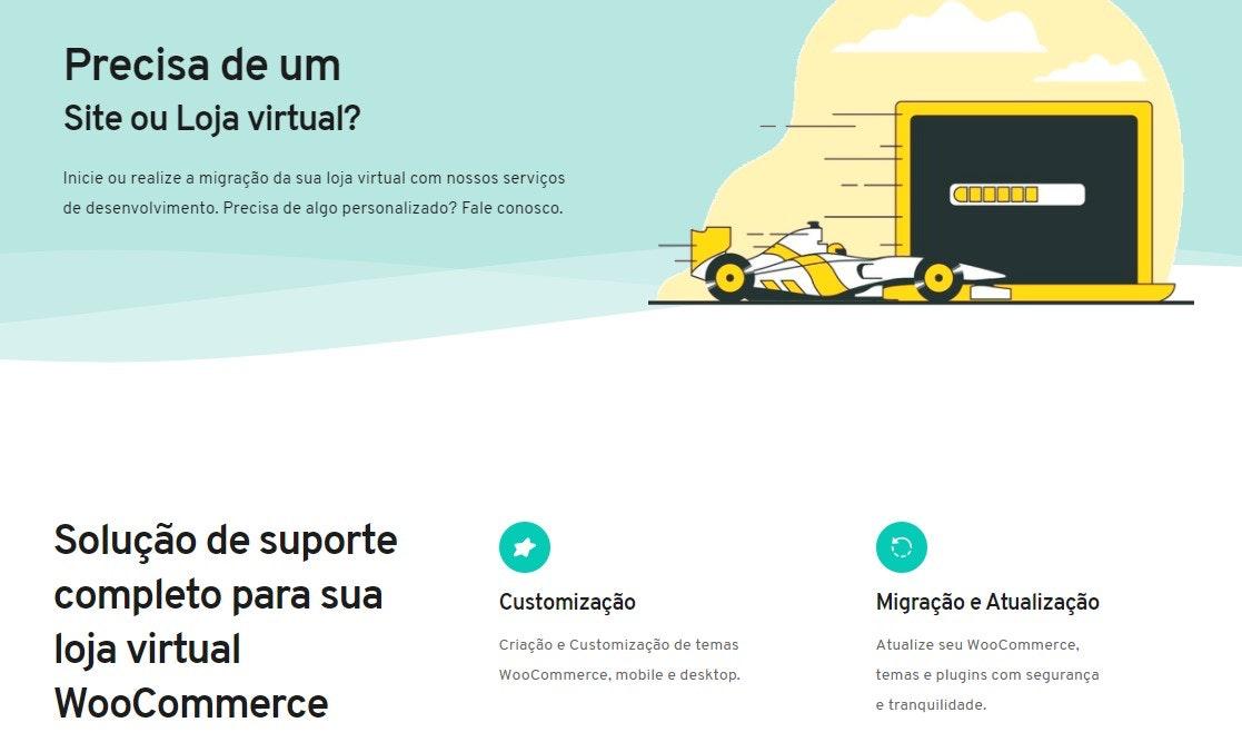 Plataforma de e-commerce para sites hospedados no WordPress