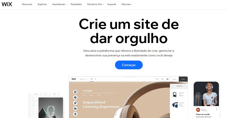 plataforma de e-commerce para construir sites visualmente cativantes