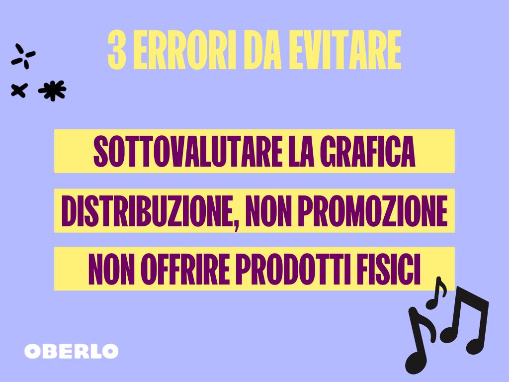 errori da evitare per vendere musica online