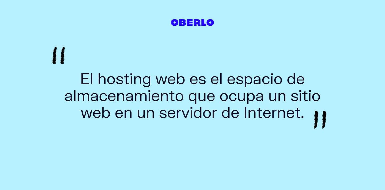 Definición hosting web
