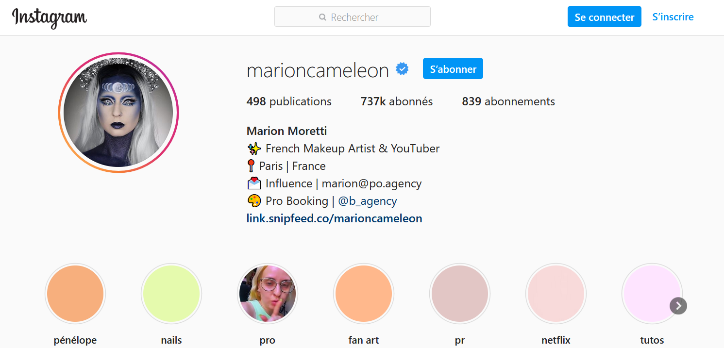 makeup artist instagram