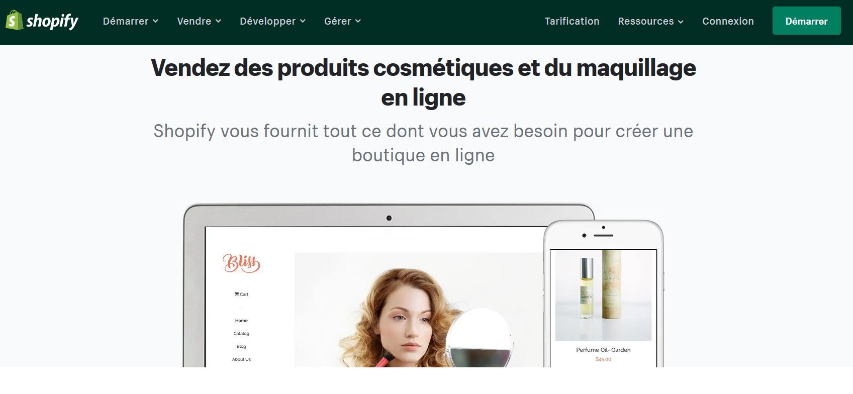 boutique de maquillage en ligne