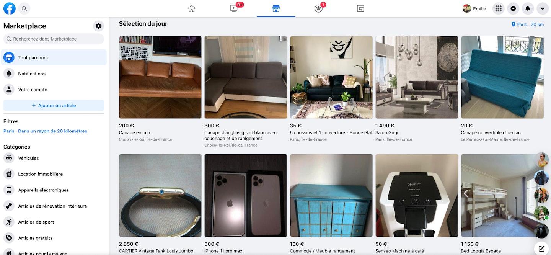 vendre sur la marketplace facebook