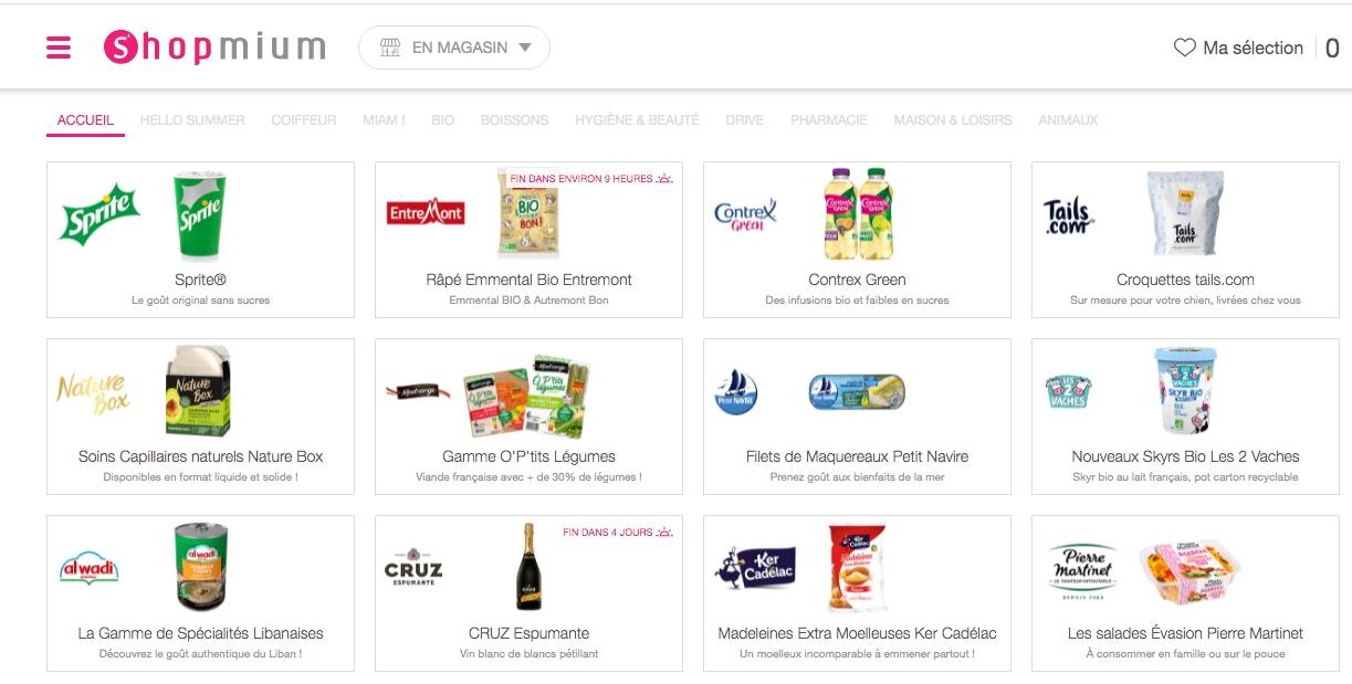 Shopmium application de coupon de réduction