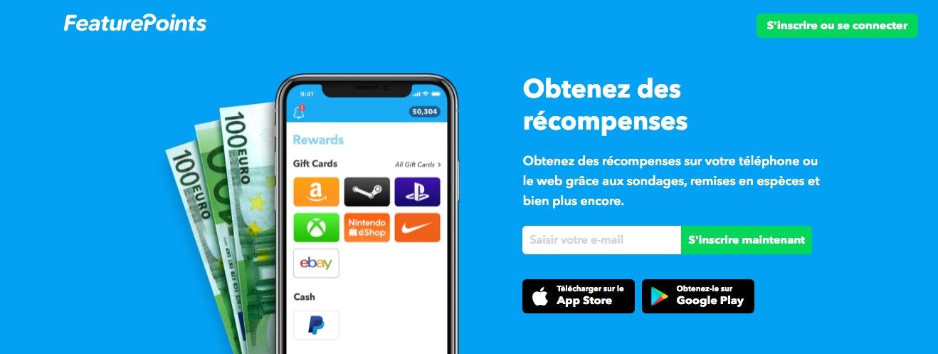 FeaturePoints application remunere