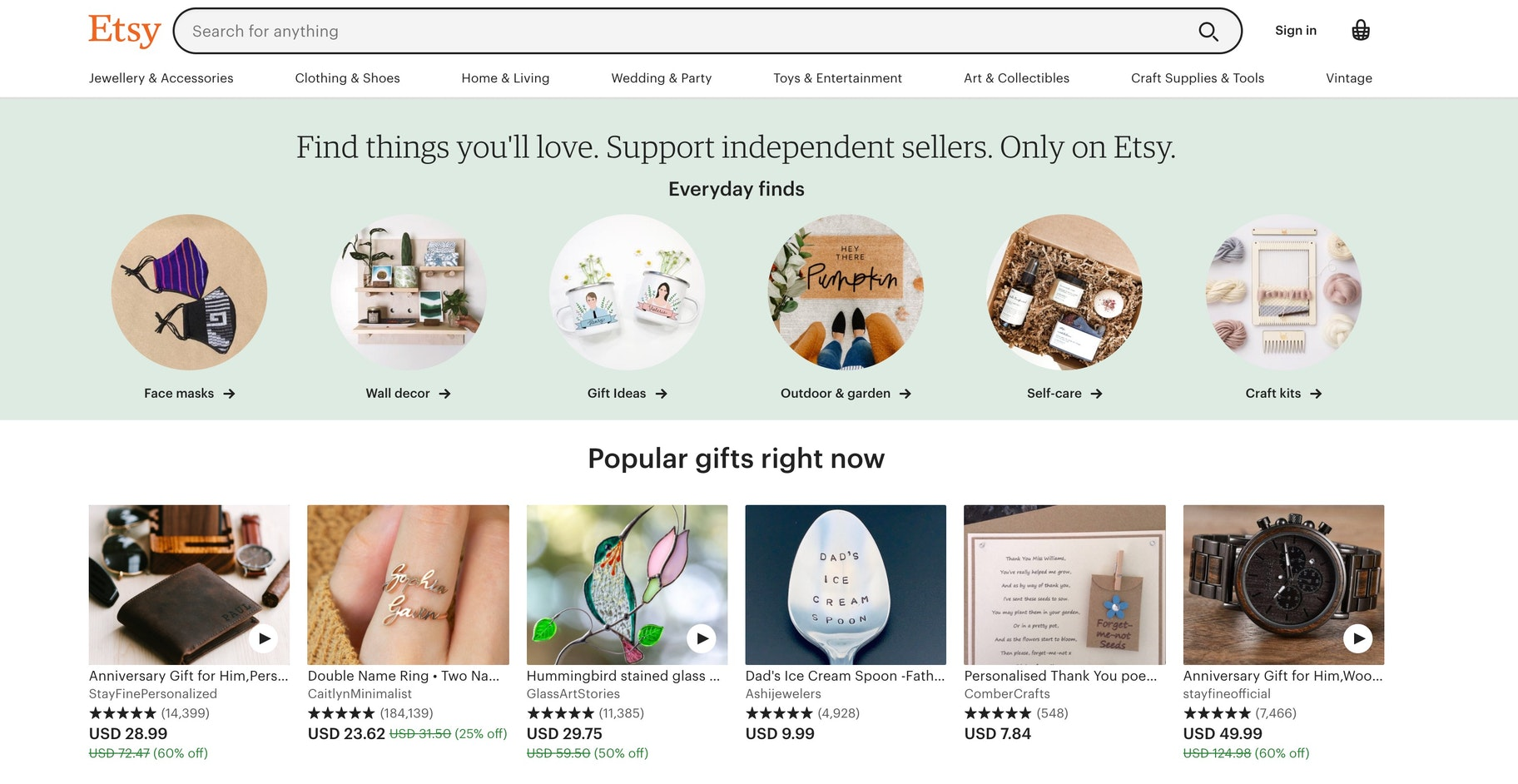 Etsy features compared to Shopify