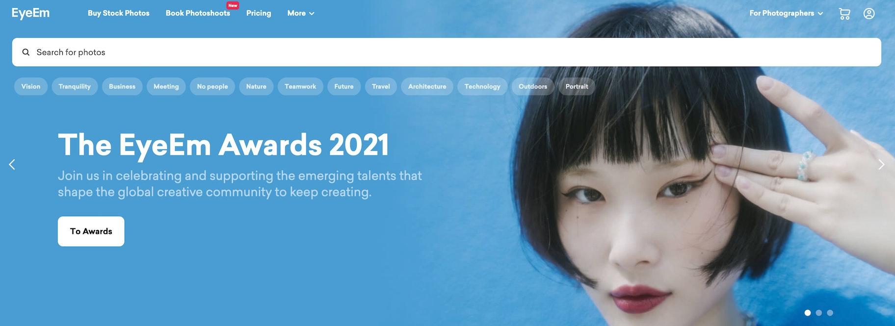 Premium Stock Image Websites - EyeEm