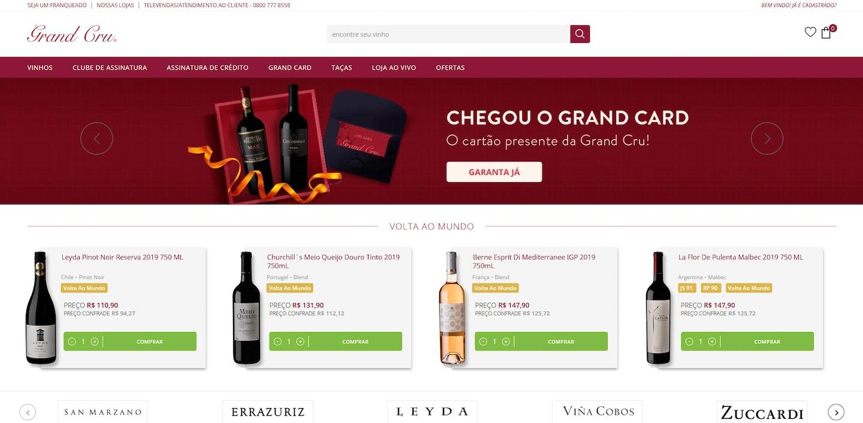 Lojas Shopify Brasil: Grand Cru
