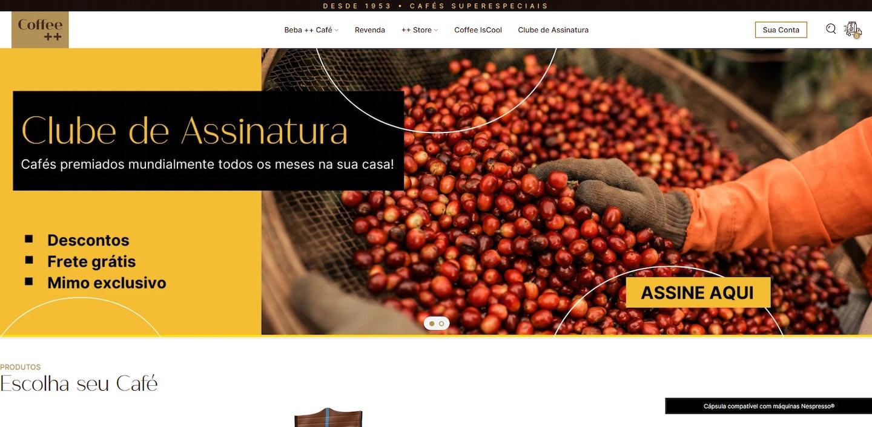 Lojas Shopify Brasil: Coffee Mais