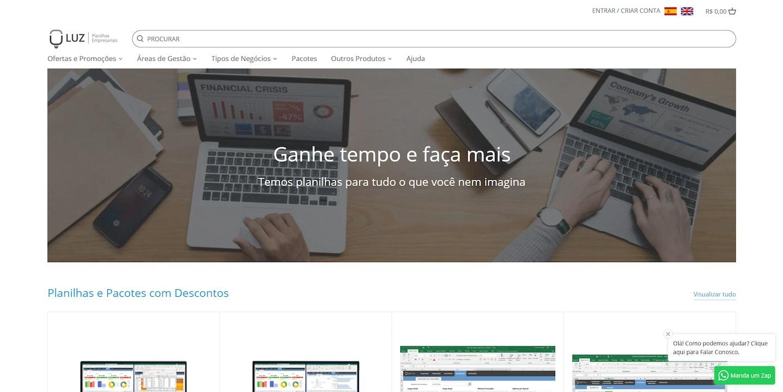 Lojas Shopify Brasil: Luz Planilhas