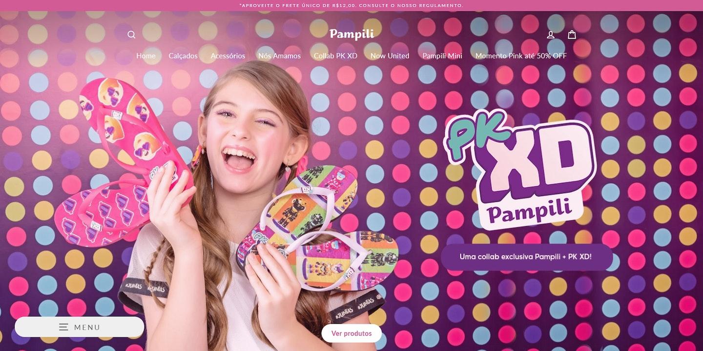 Lojas Shopify Brasil: Pampili