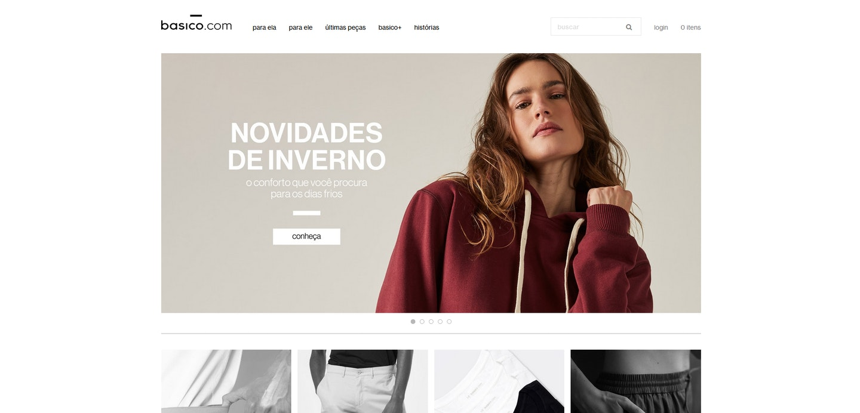 Lojas Shopify Brasil: basico.com