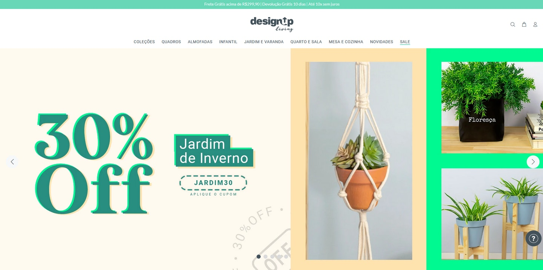 Lojas Shopify Brasil: Design Up Living