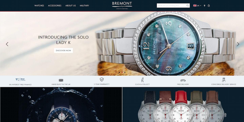 Lojas Shopify: Bremont