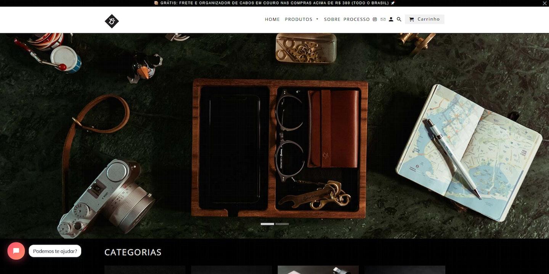 Lojas Shopify Brasil: Braveman Leather Goods
