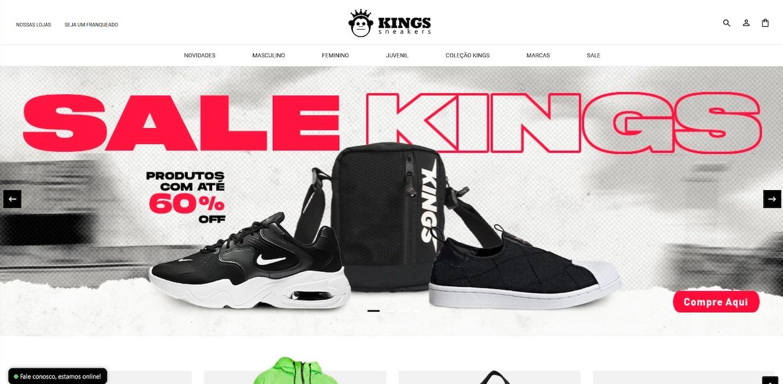 Lojas Shopify Brasil: Kings Sneakers