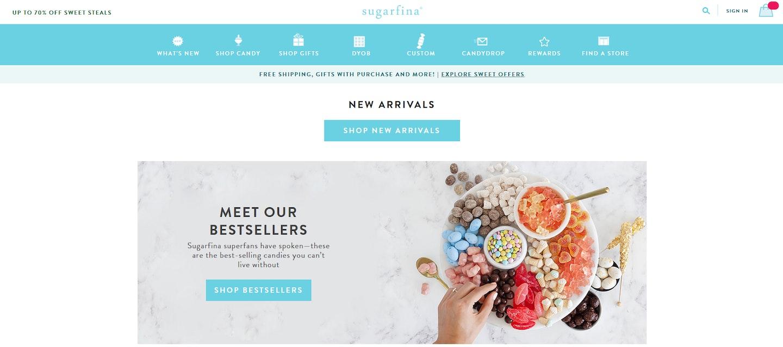 Lojas Shopify: Sugarfina