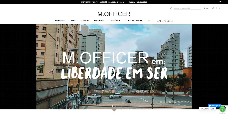 Lojas Shopify Brasil: M.Officer