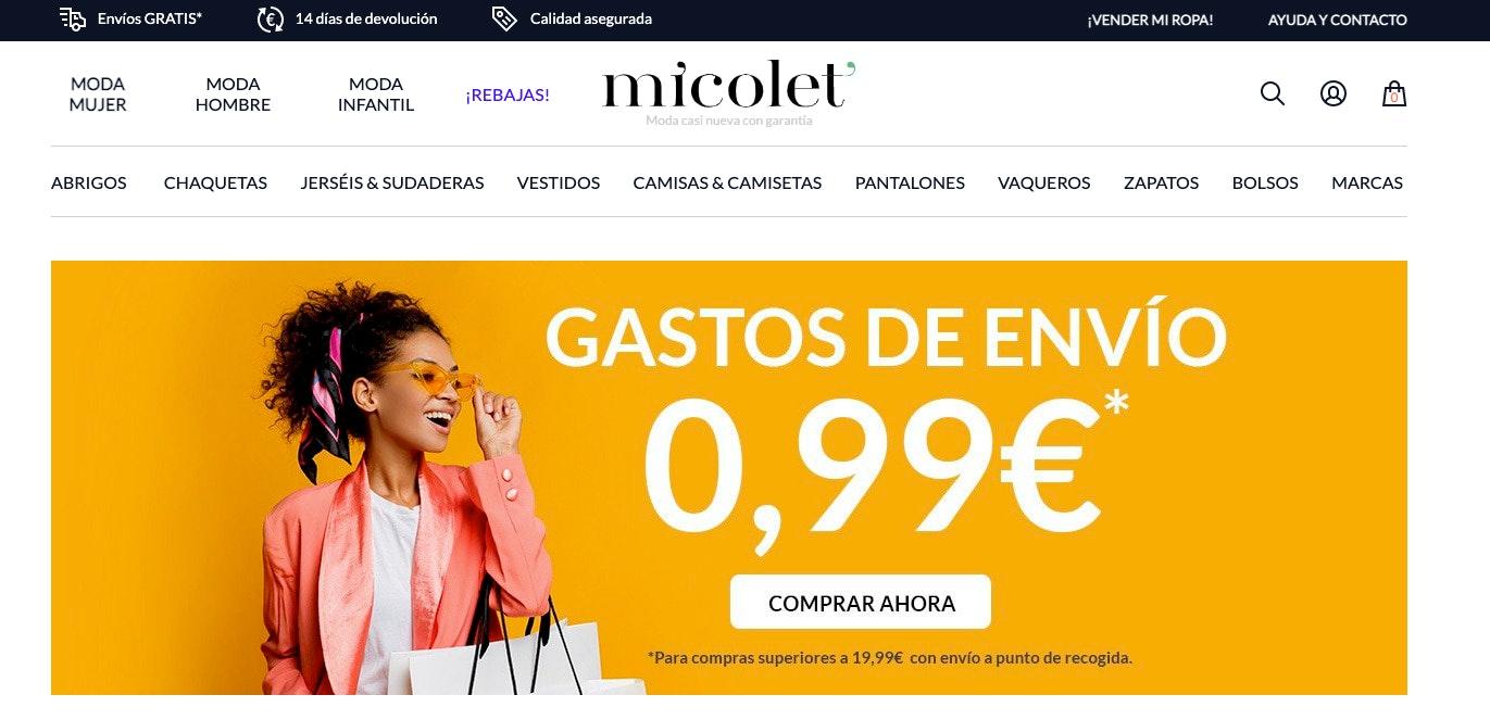 plataformas para vender ropa online micolet