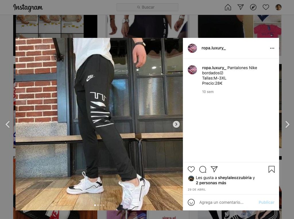 vender ropa por internet con Instagram