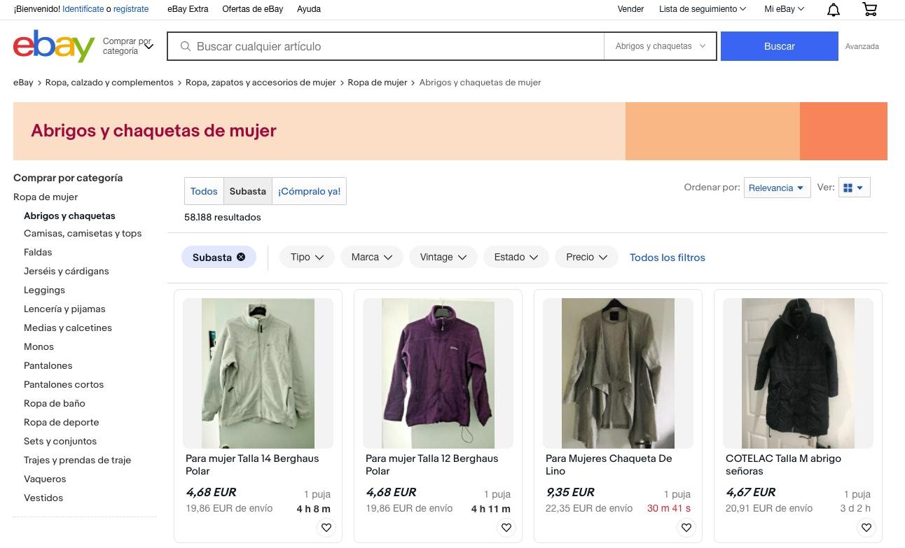 vender ropa por internet con ebay