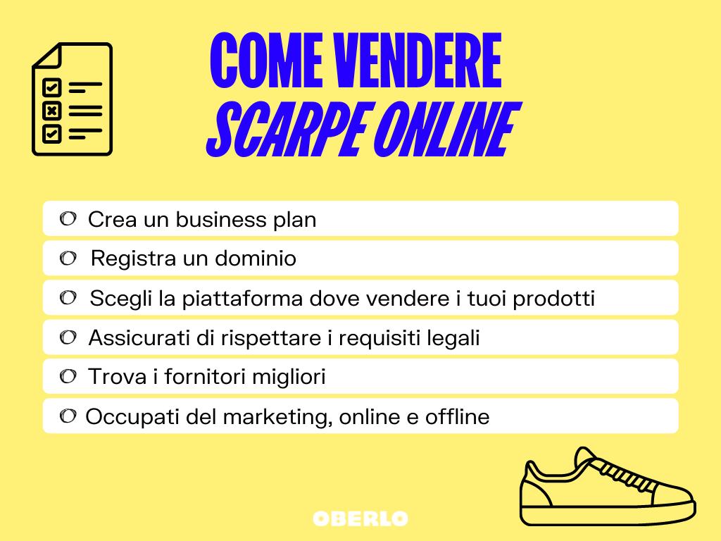 come vendere scarpe online