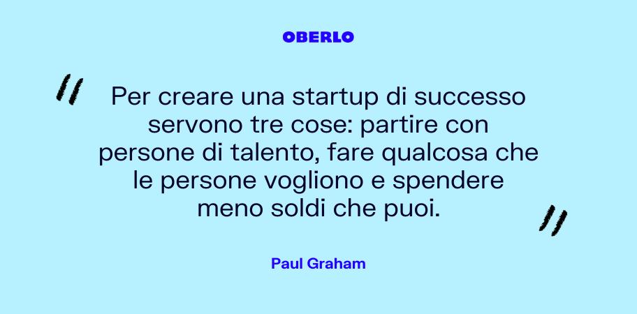 citazione creare una startup