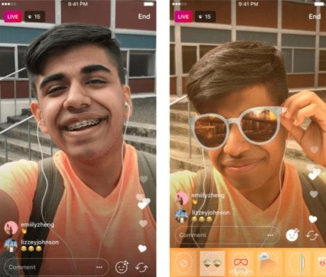 Utiliser filtres instagram