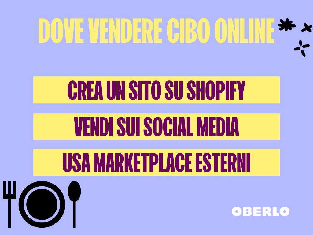dove vendere cibo online