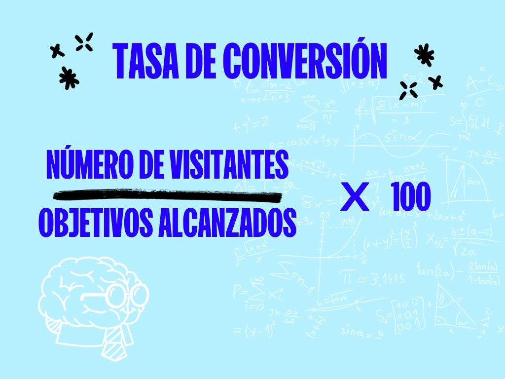 formula tasa de conversion