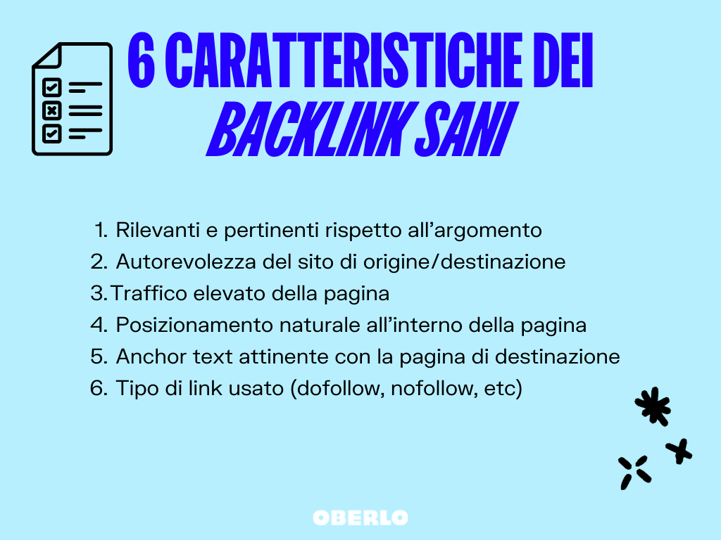 caratteristiche backlink