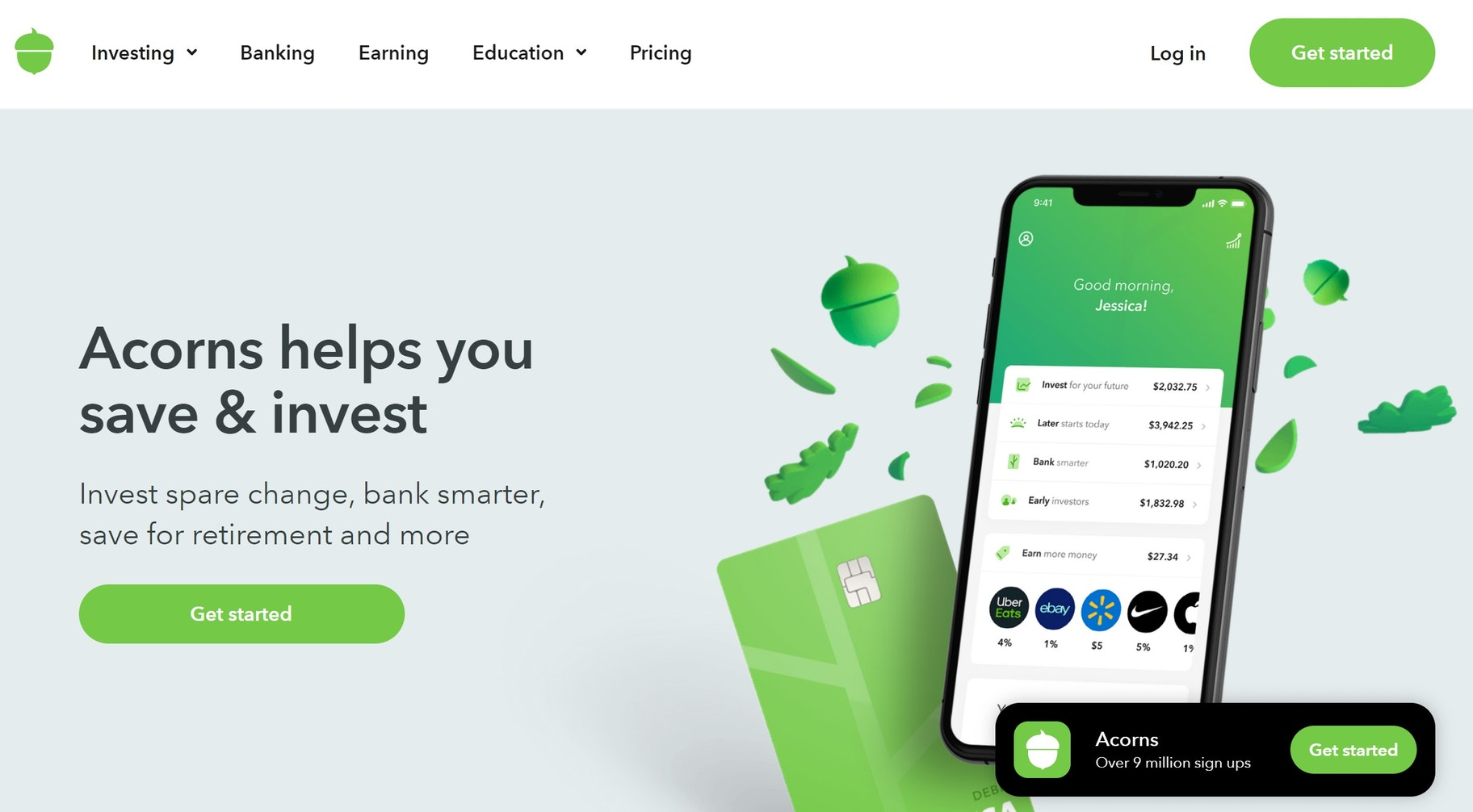 smartphone investment app: Acorns