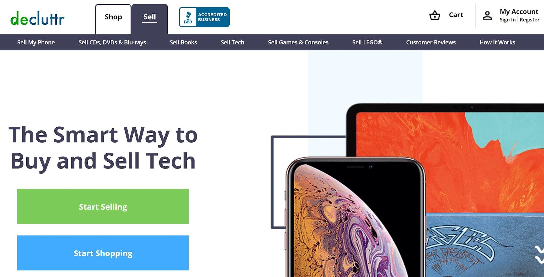 make money from phone decluttr