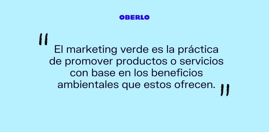 marketing verde definicion